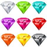 发光五颜六色的珠宝 库存图片