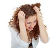 γυναίκα πονοκέφαλου Στοκ Εικόνα