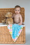婴孩女用连杉衬裤 免版税库存图片