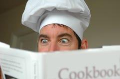 厨师激动 免版税库存图片