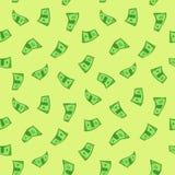 δολάρια άνευ ραφής Στοκ Εικόνες