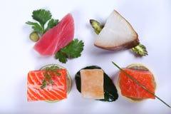 新鲜的生鱼片 免版税库存图片