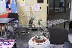испытание стойки модели самолета Стоковое Фото