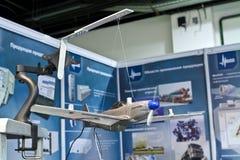 испытание стойки модели самолета Стоковая Фотография