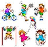 активные малыши Стоковые Изображения RF