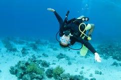 潜水员水肺 库存照片