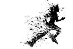 溅泼的赛跑者 图库摄影