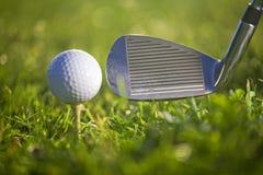 高尔夫球作用 免版税库存照片
