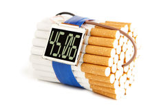 炸弹香烟 免版税库存照片