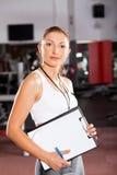 Προσωπικός εκπαιδευτής γυμναστικής Στοκ Εικόνα