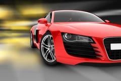 спорт красного цвета автомобиля Стоковые Фотографии RF