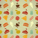 背景无缝颜色的食物 图库摄影