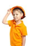 шлем конструкции мальчика Стоковые Изображения RF
