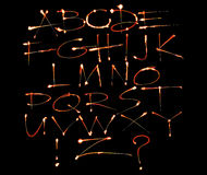 五颜六色的字母表 图库摄影