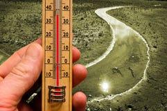 климат изменения предпосылки Стоковые Изображения RF