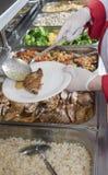 Ο αρχιμάγειρας το μεσημεριανό γεύμα Στοκ φωτογραφία με δικαίωμα ελεύθερης χρήσης