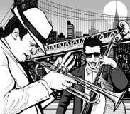 爵士乐纽约 库存图片