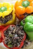 έτοιμος πιπεριών φούρνων που γεμίζεται Στοκ Εικόνες