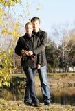υπαίθρια νεολαίες ζευγαριού Στοκ Φωτογραφία