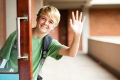 χαριτωμένο σχολείο αγοριών Στοκ Εικόνες