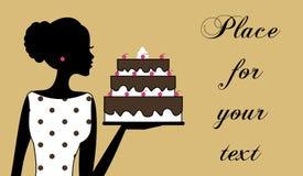κορίτσι κέικ Στοκ εικόνες με δικαίωμα ελεύθερης χρήσης