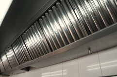 επαγγελματικά συστήματα κουζινών εξάτμισης Στοκ Φωτογραφίες