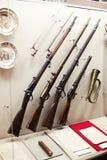 在显示的枪 免版税库存图片