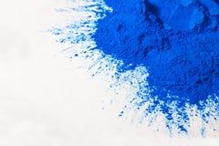 蓝色粉末 免版税库存照片