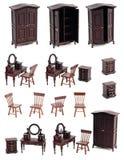 одевать изолированные мебелью игрушки комнаты Стоковое Изображение RF