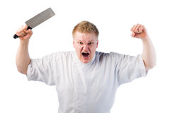 恼怒的厨师 库存照片