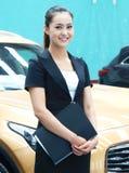 亚洲衣领白人妇女 免版税库存照片