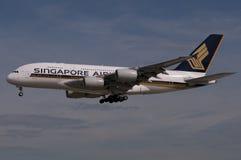 航空公司波音新加坡 库存图片