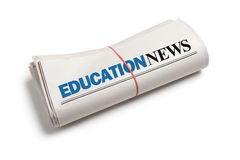 教育新闻 库存照片