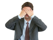 κακά σύγχρονα τα κανένα επιχειρηματιών βλέπουν Στοκ Εικόνες