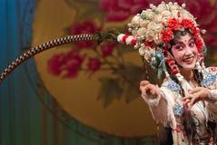 俏丽女演员中国的歌剧 库存照片