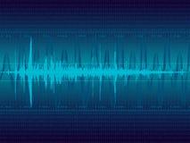 音频向量波形形式 免版税库存图片