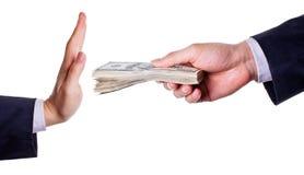 贿款废物 免版税库存图片