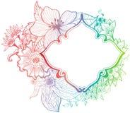 浪漫背景五颜六色的花 免版税图库摄影