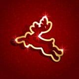 圣诞节鹿纸张 免版税库存照片