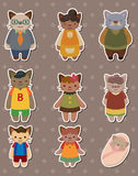 стикеры семьи кота Стоковые Фотографии RF