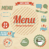 咖啡馆设计要素菜单 免版税库存图片