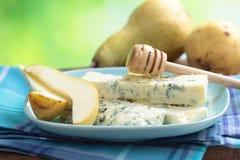 αχλάδι μελιού μπλε τυριών Στοκ φωτογραφία με δικαίωμα ελεύθερης χρήσης
