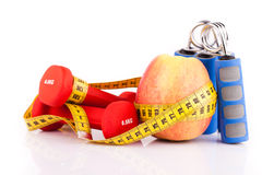 苹果健身齿轮 库存图片