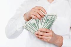 доллары людей Стоковое Изображение RF