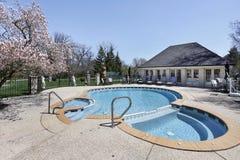附加的池蒸汽浴游泳 库存照片