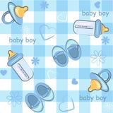 άνευ ραφής τ αγοριών ανασκόπησης μωρών τύλιγμα εικονιδίων Στοκ φωτογραφίες με δικαίωμα ελεύθερης χρήσης