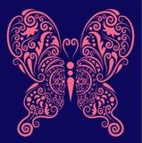 蝴蝶装饰品粉红色 库存图片