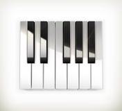 锁上八音度钢琴 免版税库存图片