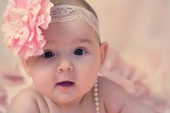 女婴纵向 库存图片