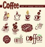 咖啡设计要素 库存照片